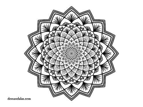 Mandalas De Dragones Para Colorear Descargar Imprimir Y: Mandala Para Imprimir Adultos