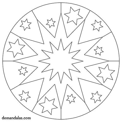 Mandalas para imprimir para niños - Imprime GRATIS en PDF
