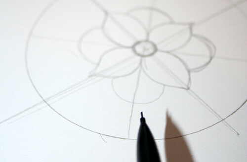 Diseño simétrico del mandala