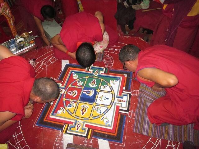 Origen de mandalas tibetanos