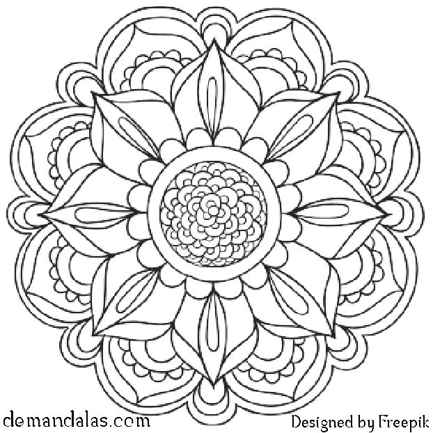 Mandalas para imprimir y colorear - Descargar en PDF e imprimir gratis